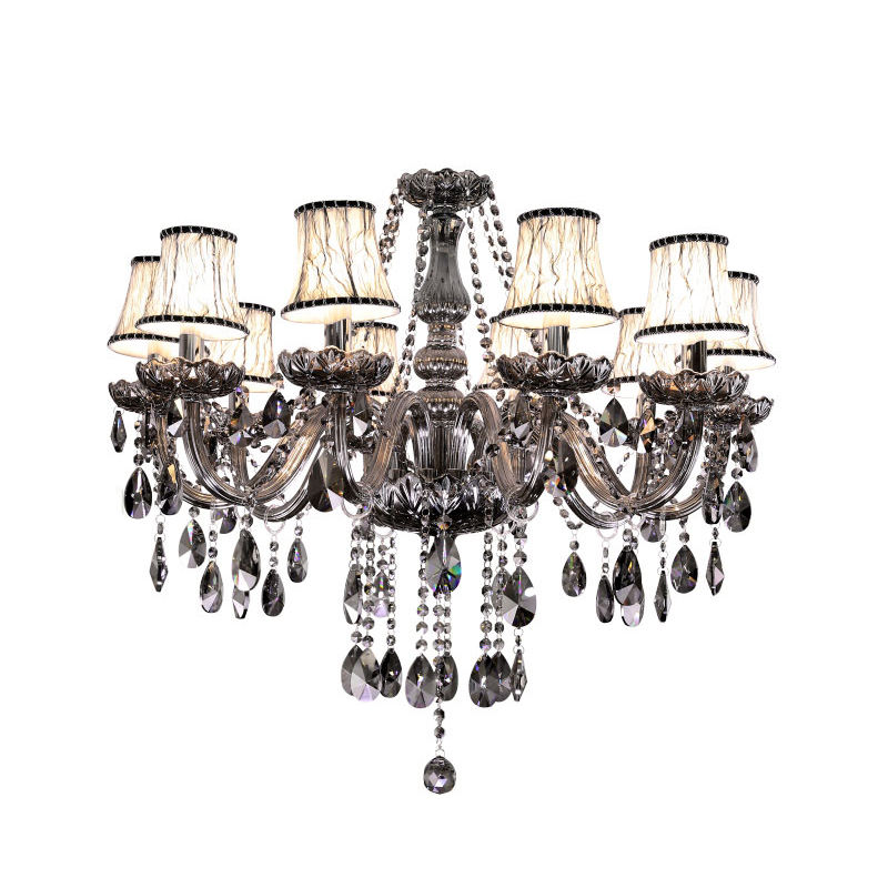 Made In China Austrian Turkey Luxury Asfour Home Ceiling Cristal modern black Hanging Lamp Raindrop Light Crystal Chandelier