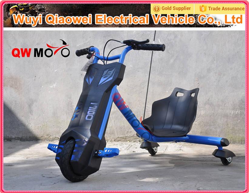 2015 <span class=keywords><strong>QWMOTO</strong></span> certificación CE barato azul No plegable 100 W Motor mini niños Scooter Scooter del Motor eléctrico para los niños
