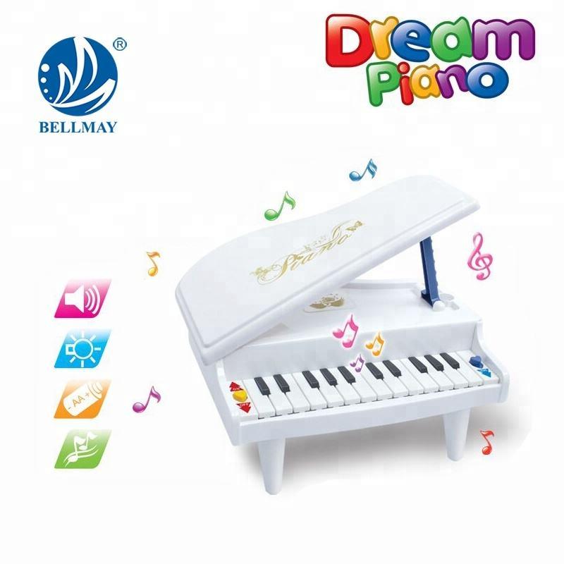 Пластиковые мини музыкальный инструмент 14 клавиши пианино игрушка с легкими образования игрушек фортепиано