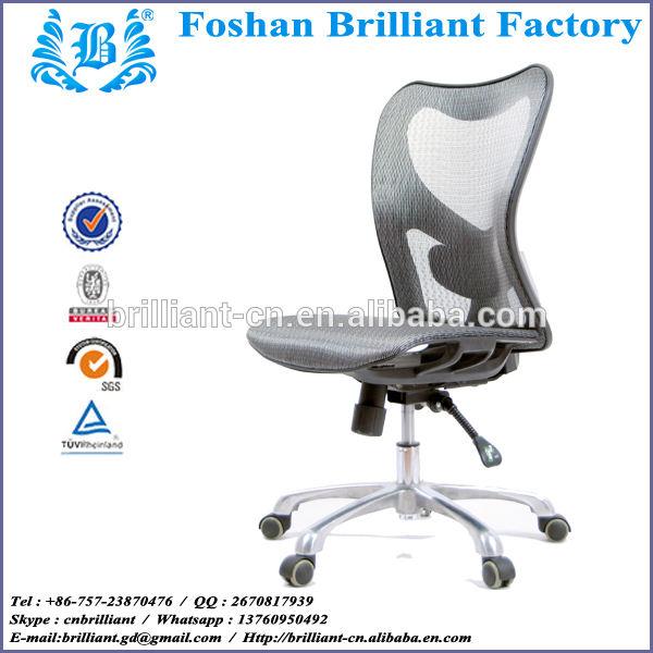plástico marco de respaldo alto ergonómico de malla de Nylon escritorio de oficina en casa silla con soporte lumbar BF-8998B-A