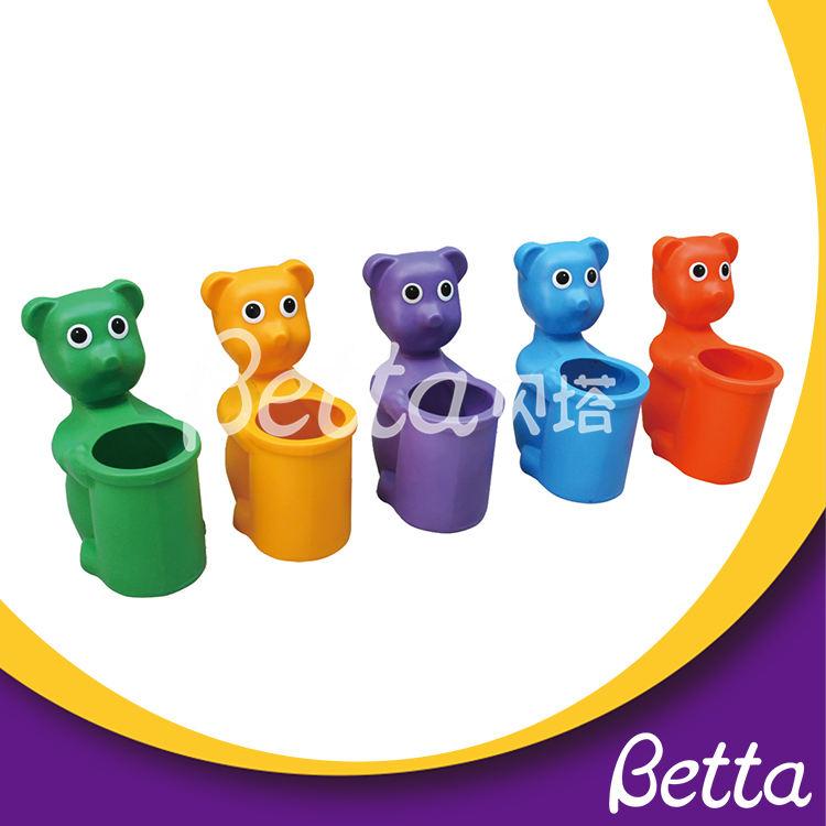 Sur mesure en plein air aire de jeux animal ours forme de déchets en plein air bin