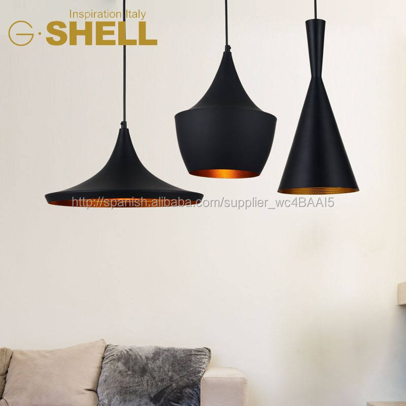 2016 retro metal de la vendimia suspensión colgante luz