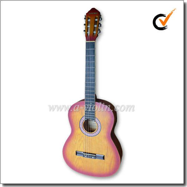 """sapele pintado chama 39 """"guitarra cortante clássica(AC851-SA2)"""