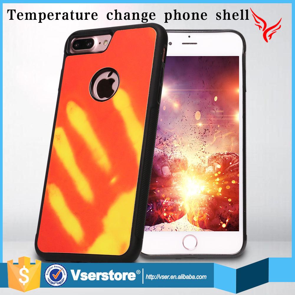 Guangzhou 5.5 pouce mobile téléphone cas couverture de température capteur thermo phon cas pour iphone 6 s plus