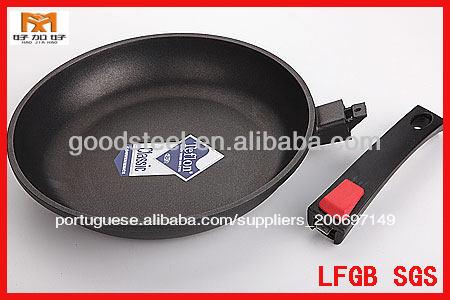 Msf forjada frigideira de alumínio dobrável com alça e teflon não- stick do revestimento interior