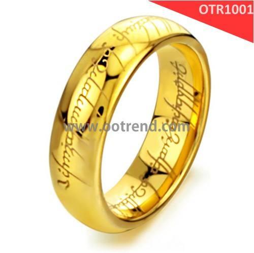 Золотой цвет вольфрама господин кольца оптовой низкой цене