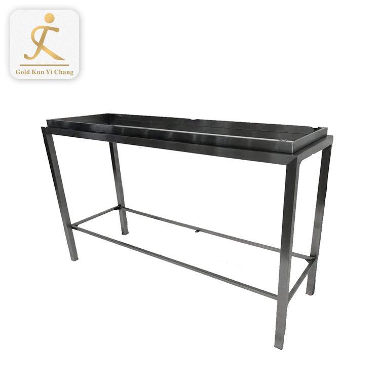 Серебряный Обеденный Стол стальные ножки металлический сад короткие бистро боковые настольные ножки крепления ног к стеклянному столу