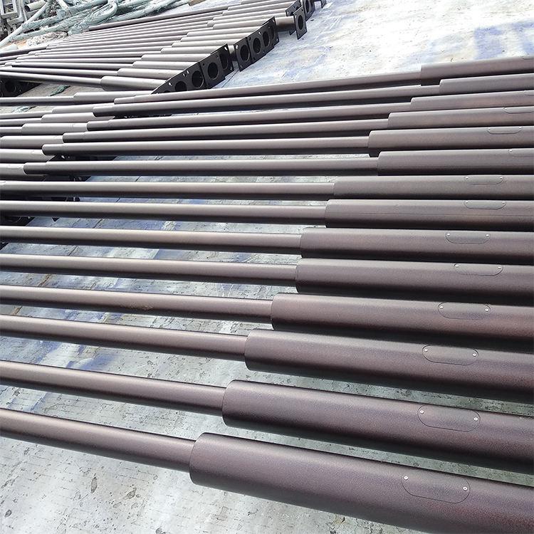جودة عالية 5 متر الصلب المجلفن مدبب أقطاب كابلات كهربية ، الفولاذ المقاوم للصدأ عمود إضاءة لل<span class=keywords><strong>حديقة</strong></span>