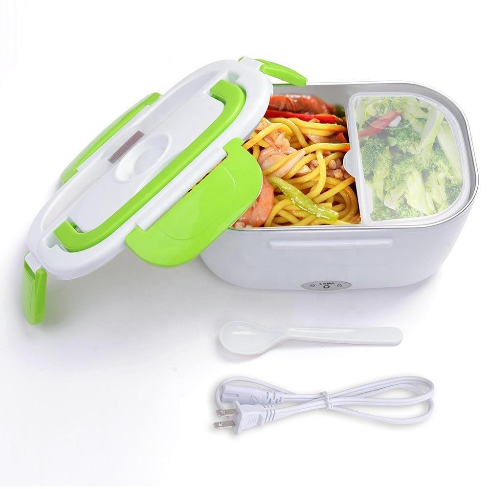 Travel mini portable plastic electric heating Insulation heated food warmer storage box electric lunch box with low price