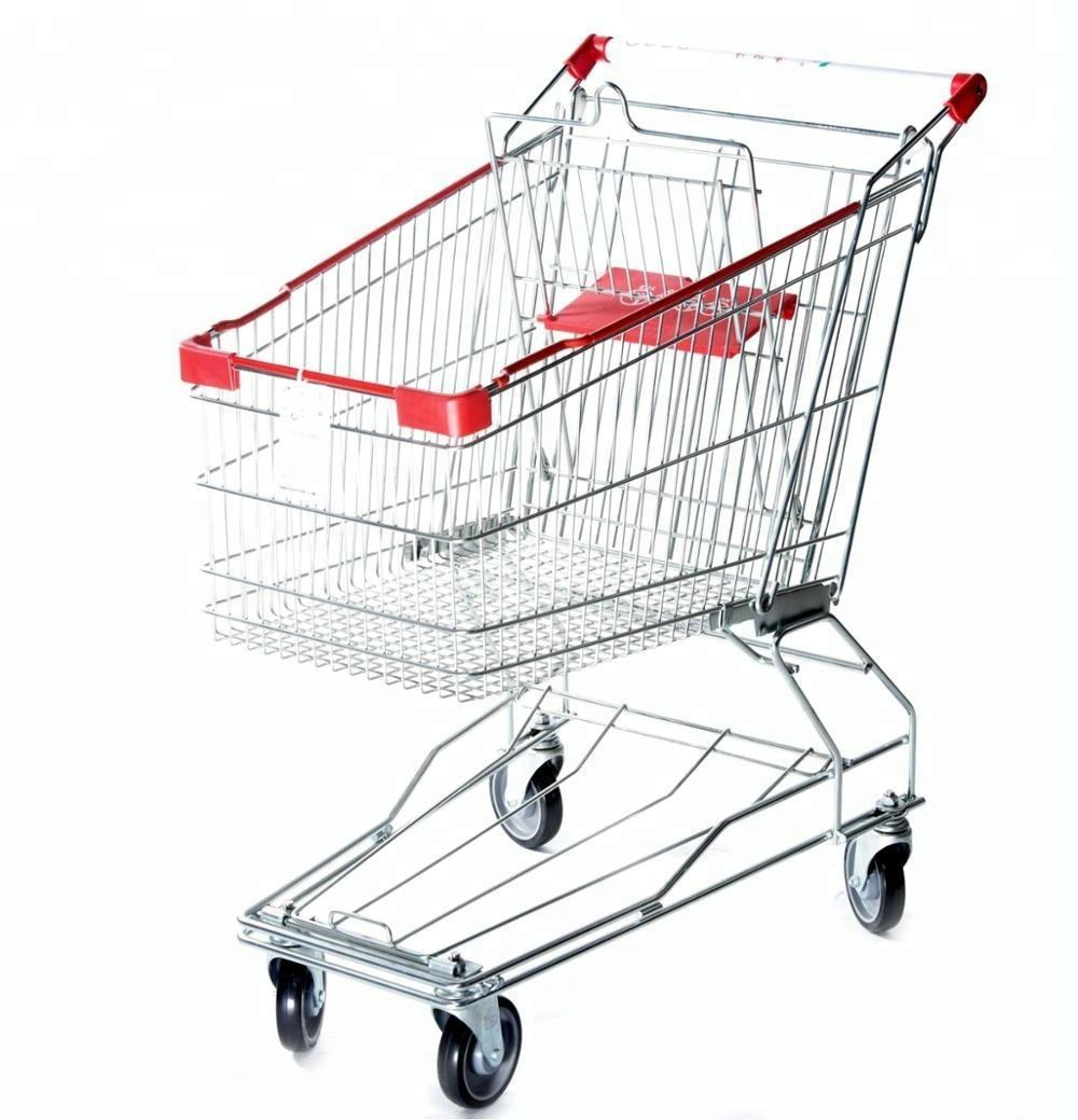 Asian style shopping cart trolley china manufacture supermarket trolley