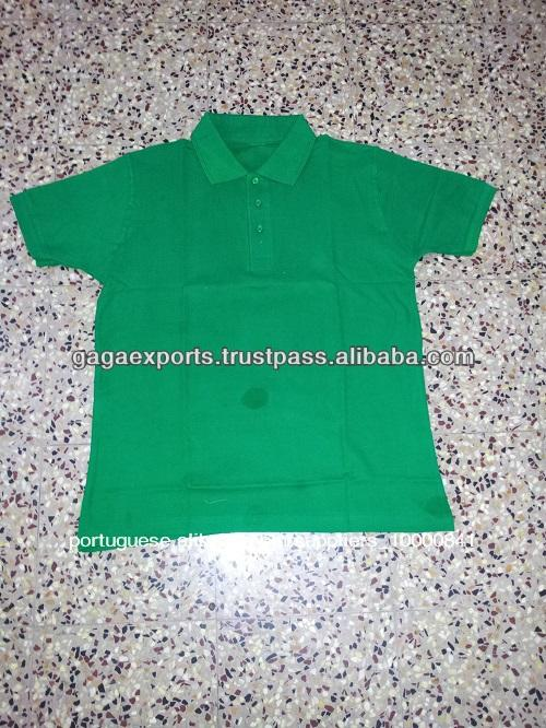 $1.25 em 200 gsm homens polo piqe hunder verde t- camisas