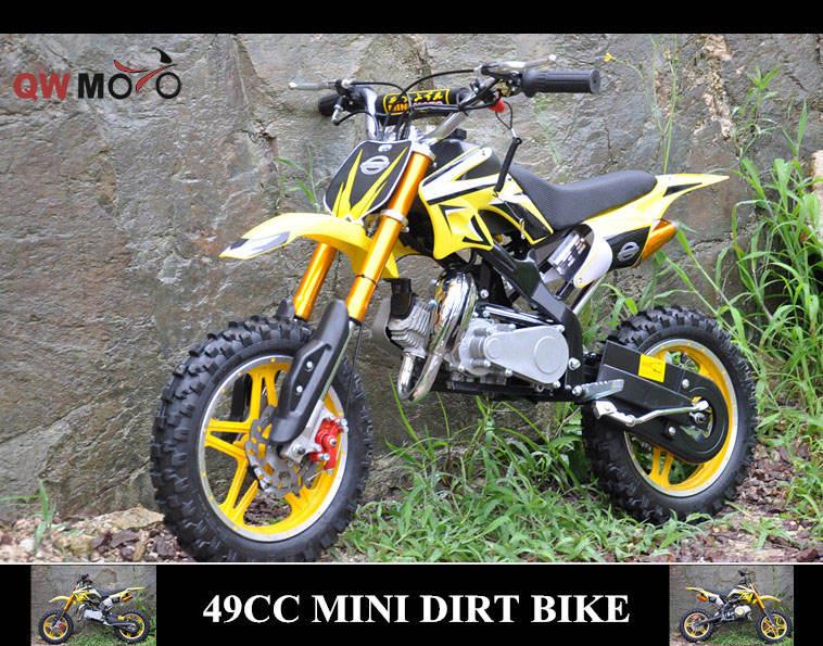 <span class=keywords><strong>QWMOTO</strong></span> niños 49cc moto 2 tiempos 49cc mini niños de gas bici de la suciedad para la venta barata (QWMPB-02)