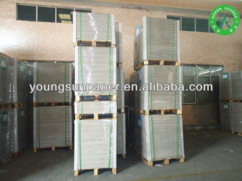 La fabricación de 900g molinos gris hoja junta/gris foto el respaldo de cartón