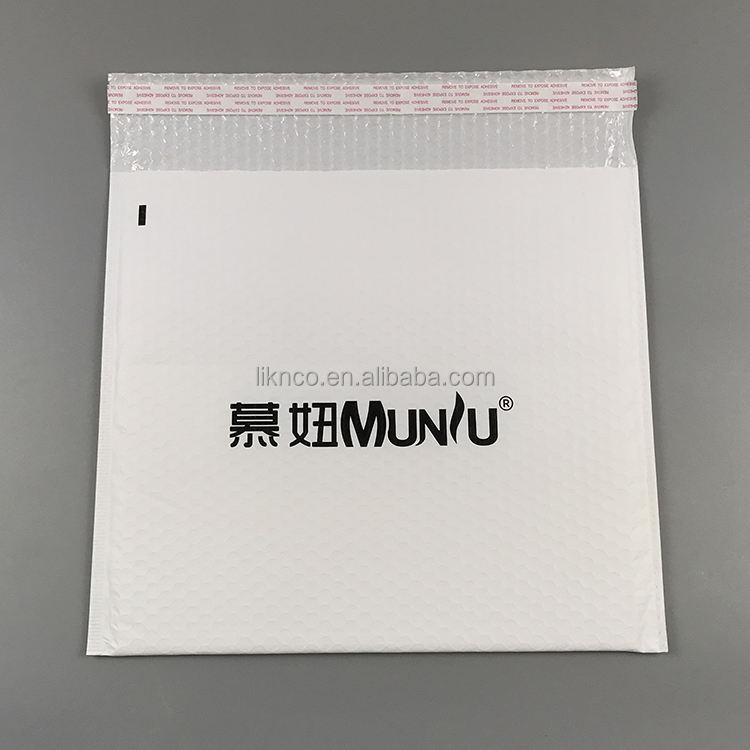 Benutzerdefinierte Produkt Weiß Blase Umschlag Mit Logo Bedruckt Porto Versandtasche