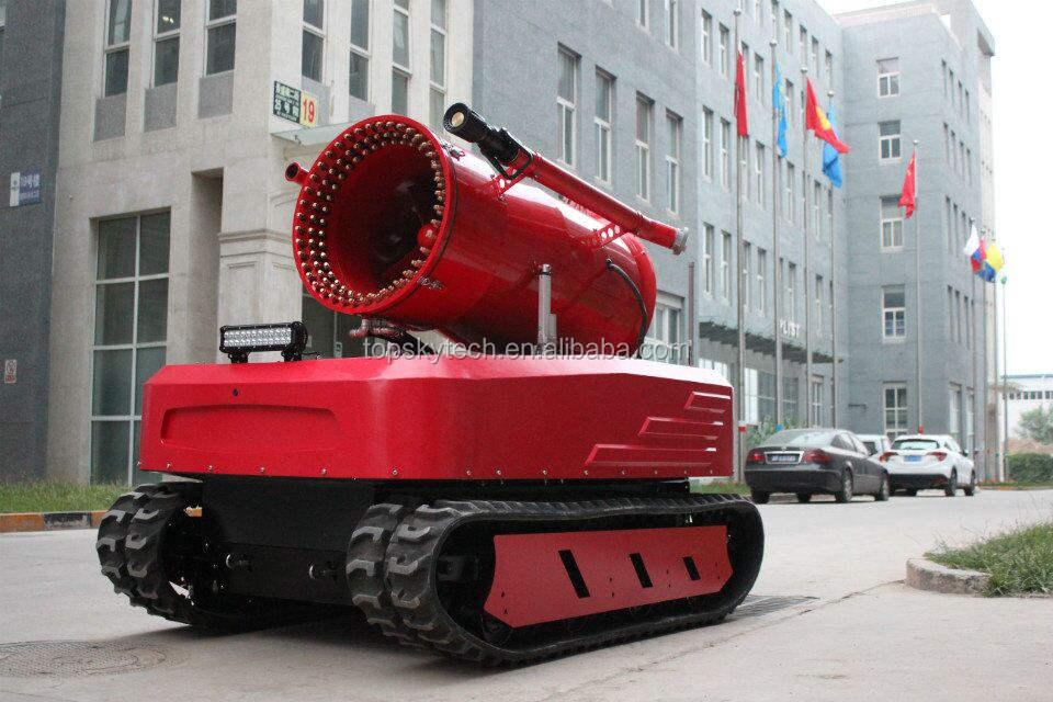 Пожаротушения большой оборудования обнаружения дыма робот