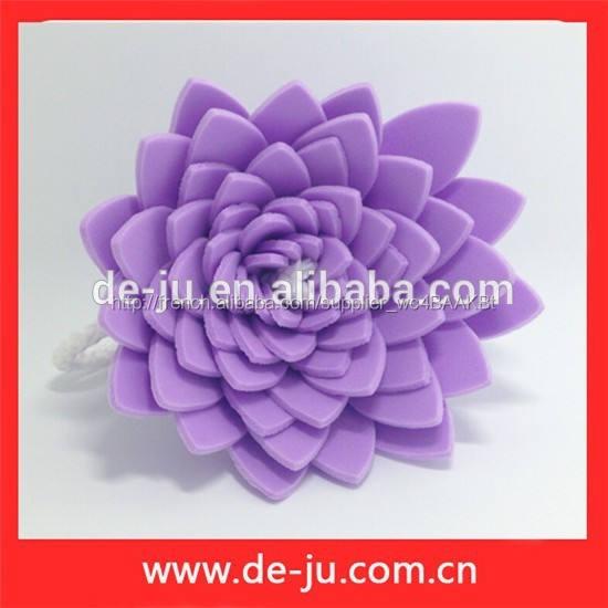 Promotion coloré Eva fleur tout forme de boule de bain Lotus fleur de bain