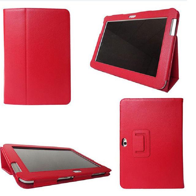 Stehen leder flip Tablet fall für sumsung galaxy note 10,1 n8000 n8010