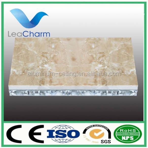 Compuesto de aluminio núcleo de nido de abeja de techo Fonoabsorbente