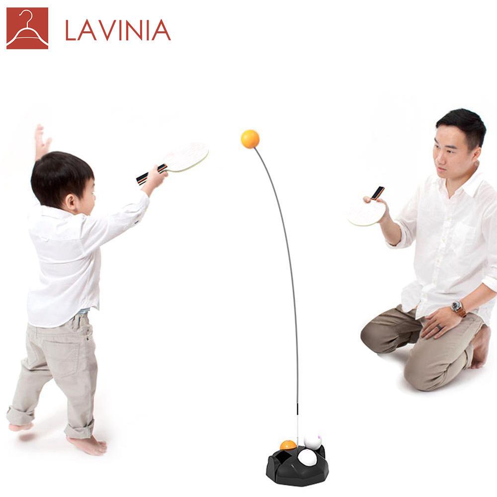 Yiwu Nouveau Produit En Bois Raquette Enfants Adultes Jouet Formateur Dispositif de Support Élastique Doux Arbre Table Tennis