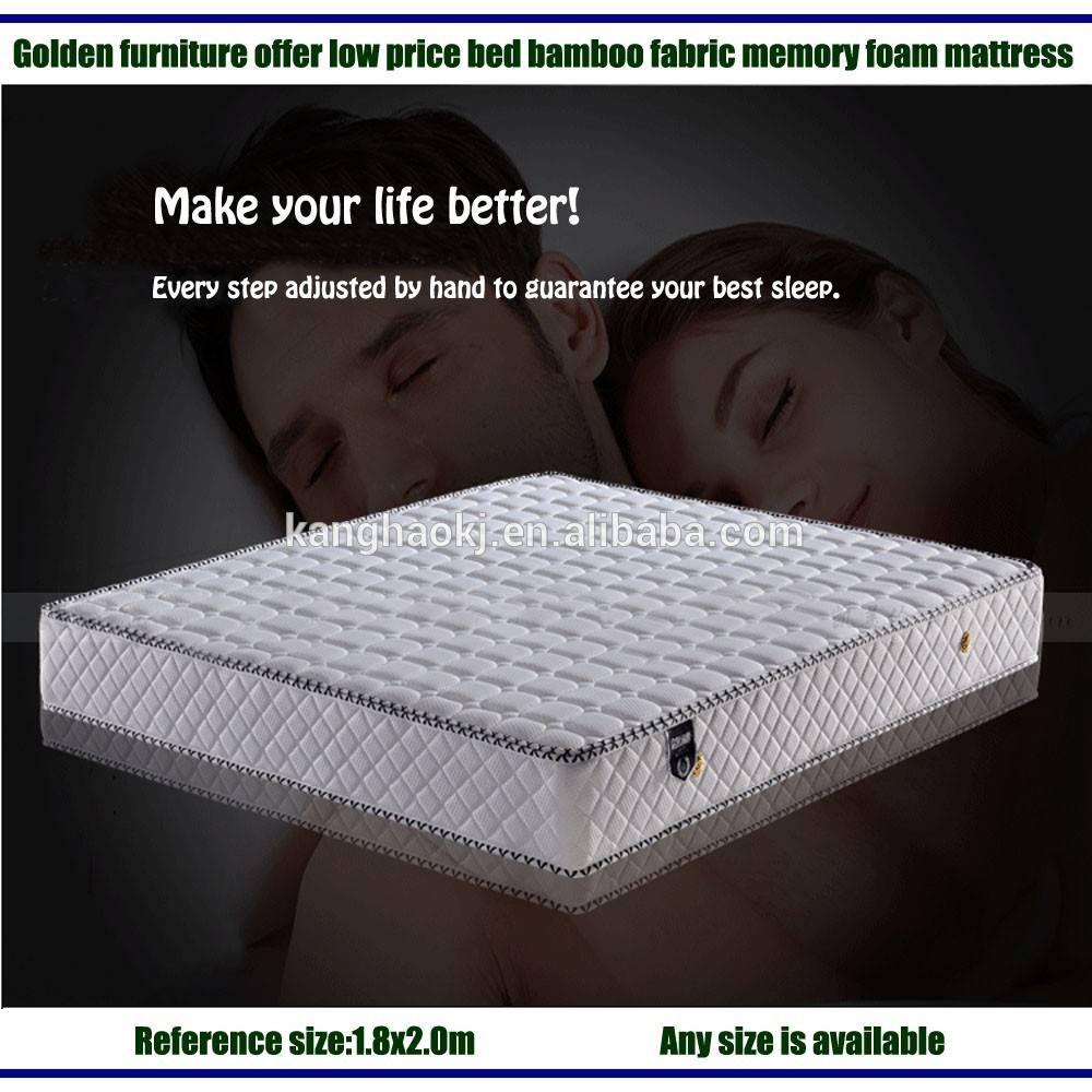 Meubles dorés d'offrir des prix bas lit. tricoté, bambou tissu matelas <span class=keywords><strong>mousse</strong></span> mémoire