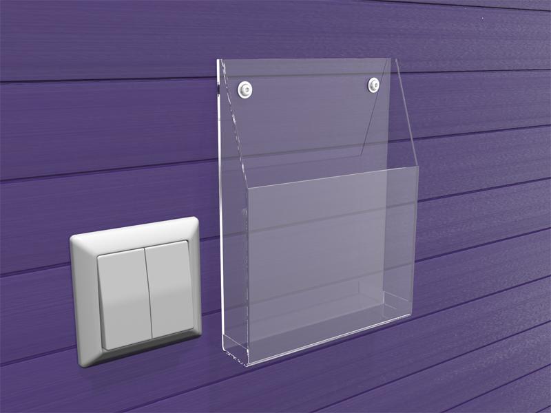 Clear acrylic wall mount titulaire livret, plexiglas poche unique brochure <span class=keywords><strong>affichage</strong></span> <span class=keywords><strong>plateau</strong></span>/lucite porte-brochure