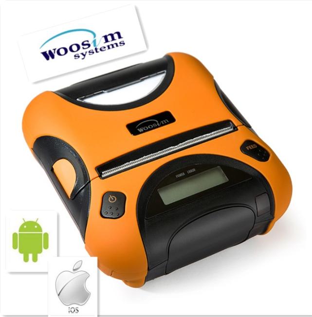 Woosimモバイルブルートゥースカードリーダーポータブル3'' キャッシャーwsp-i350レシートプリンタ