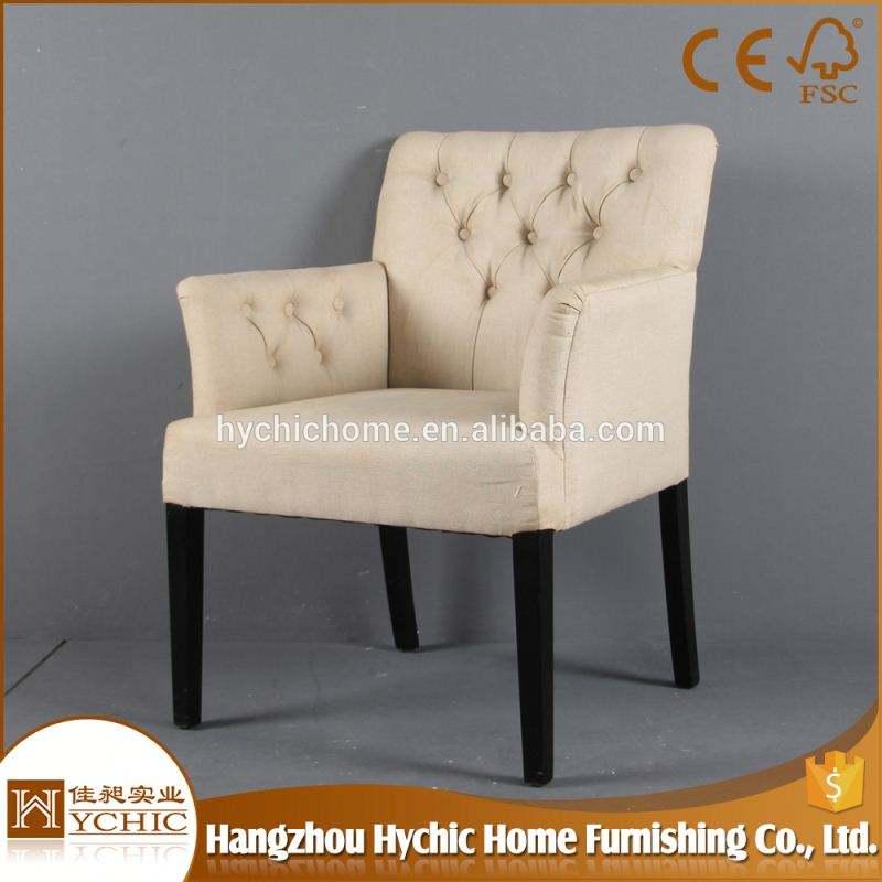 工場価格バルコニーコンビニエンスファッションファンシータフト椅子豪華な生地オークフレームアームチェア