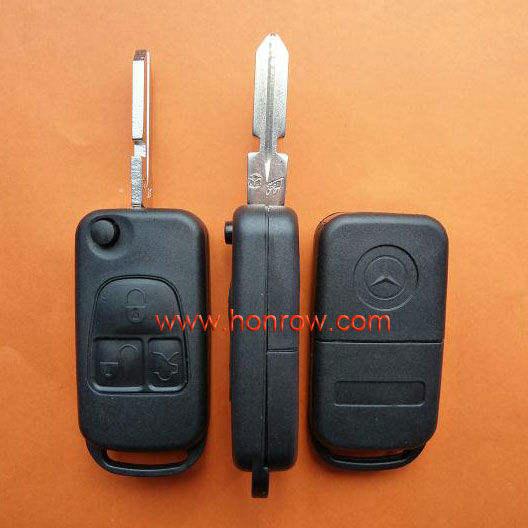 высокое качество различными 3 кнопки флип дистанционный ключ пустой с 4 трека лезвия, mercedes ключ