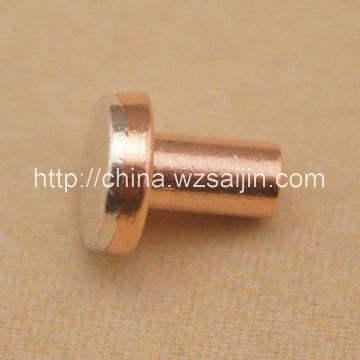 precisión de aleación de plata de bronce del remache bimetálico punto de contacto eléctrico de alta para contactor