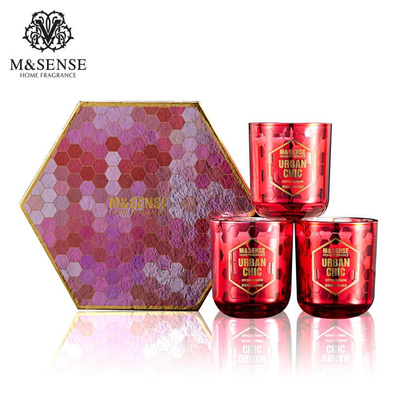中国メーカートップ品質ガラスジャー3芯母親日卸売贈り物