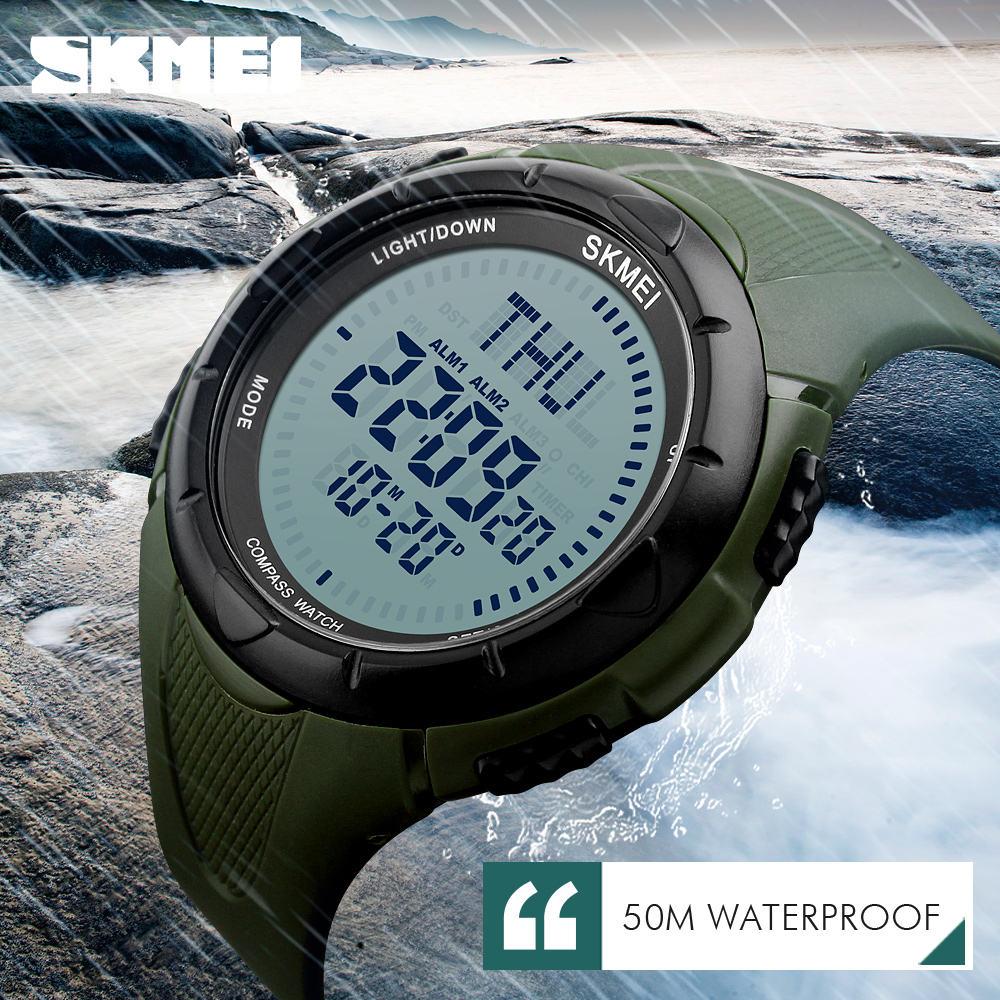 Лучшие продажи продуктов SKMEI #1232 диких не потеряются 5atm Водонепроницаемая цифровая мужчины часы