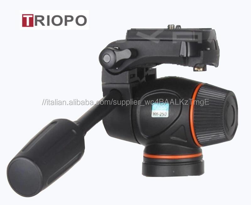 "Testa Treppiedi Frenatura Idraulica Video Testa Treppiedi <span class=keywords><strong>1</strong></span>/<span class=keywords><strong>4</strong></span> ""3/8"" testa Per DSLR <span class=keywords><strong>Nikon</strong></span> Cannon Videocamere Ripresa Riprese"