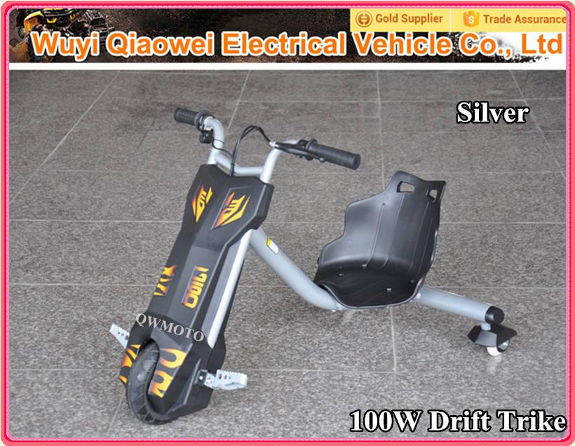 <span class=keywords><strong>Qwmoto</strong></span> plata 100 W para niños drift trike 3 ruedas eléctrica inteligente a la deriva Scooter