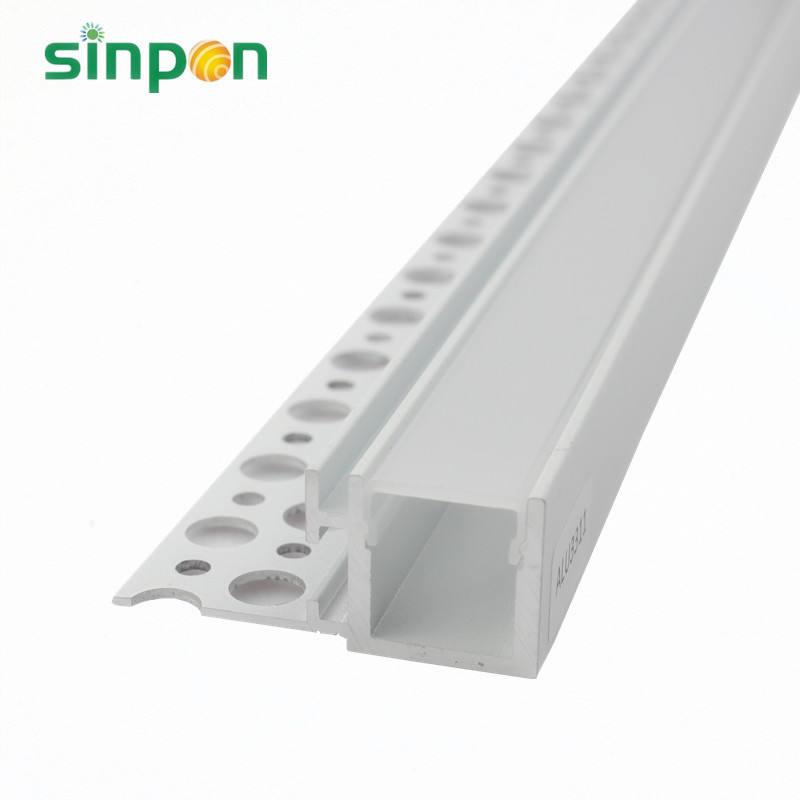 U <span class=keywords><strong>Canal</strong></span> Arc-En Forme de Boîte D'extrusion D'aluminium A MENÉ L'éclairage avec 60 Angle de Faisceau Couverture