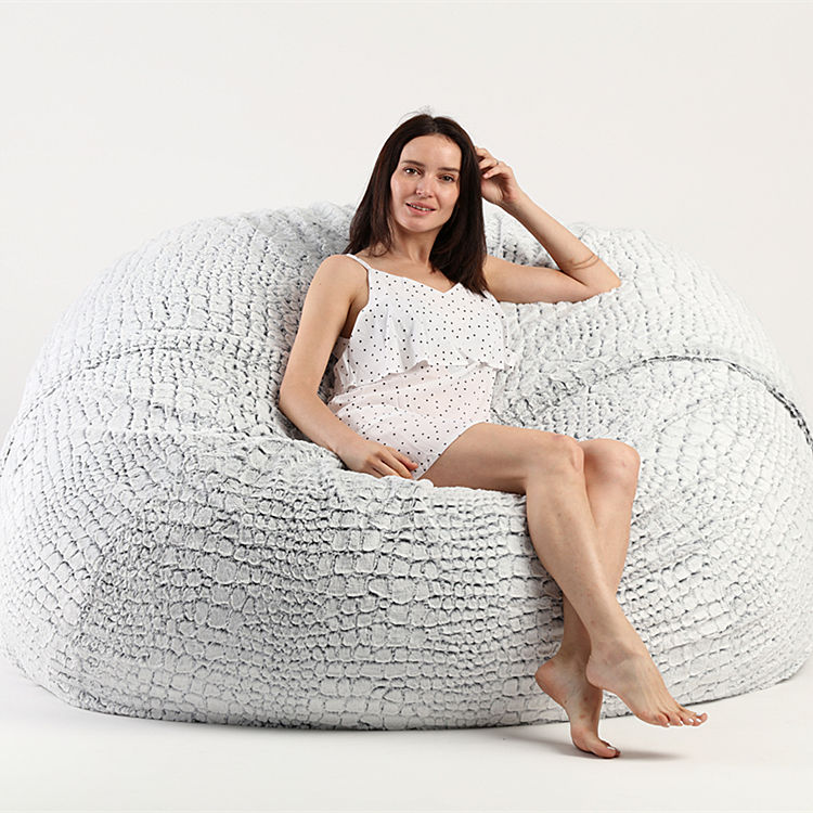 Fluffy piedra de bolsa de frijol de cubierta de la silla