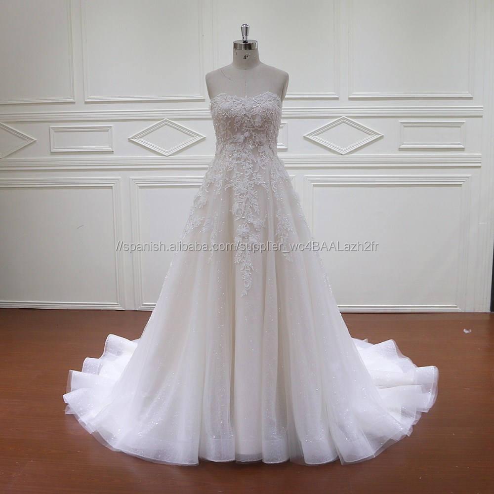 HD010 strapless nuevos vestidos de diseño de moda vestido de novia imágenes para nupcial