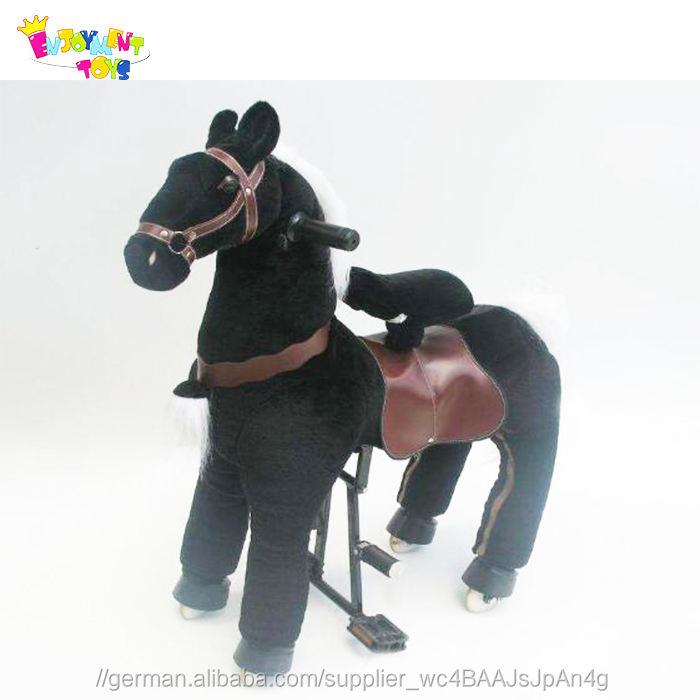 Genuss CE mechanische karussell plüsch fahrt auf pferd <span class=keywords><strong>spielzeug</strong></span>, mechanische reiten <span class=keywords><strong>spielzeug</strong></span> für verkauf