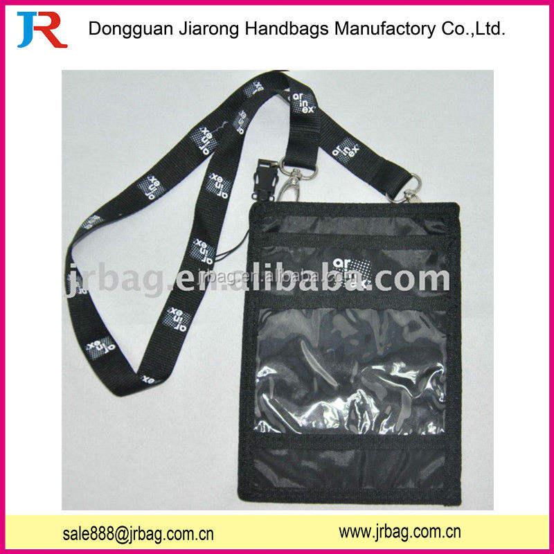 Réutilisable cou polyester sacs ID titulaire de la carte pour carte de visite