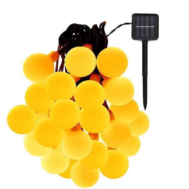 야외 30 LED 공 태양 조명 문자열 방수 요정 거품 문자열 빛