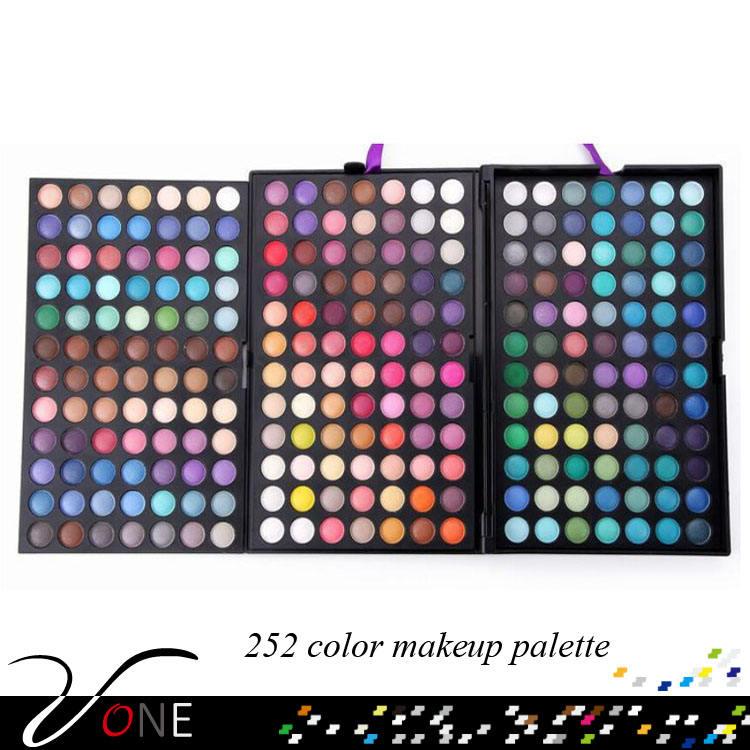 2016 profesional completa de 252 Colores de Sombra de Ojos maquillaje paleta al por mayor con el mejor precio