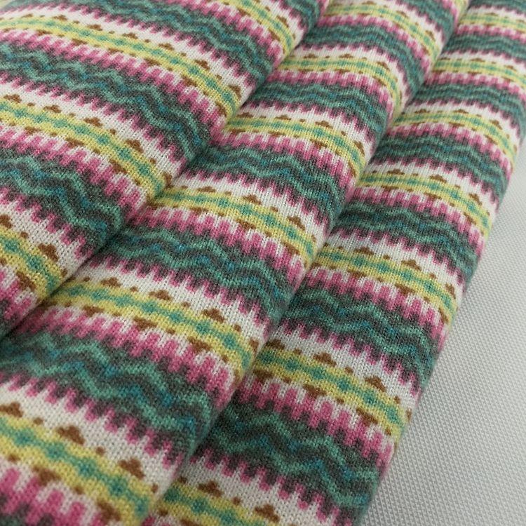 Yoga için çizgili fırçalanmış polyester spandex elastan kumaş bez