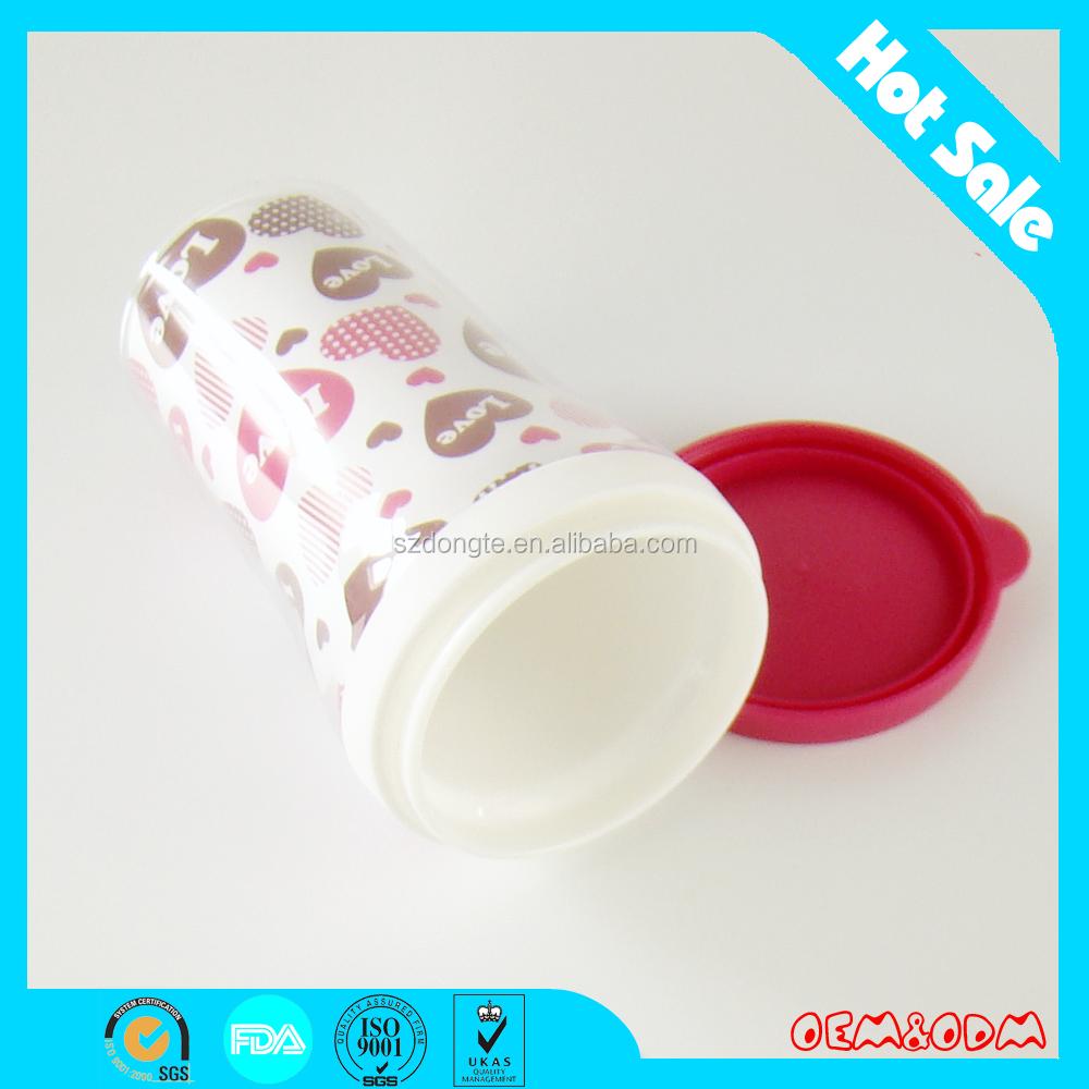 400 ml anuncio Cups / anillo de silicona <span class=keywords><strong>tazas</strong></span> / taza de plástico