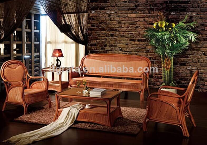 2014 el último diseño de mimbre de interior/sofá de mimbre conjunto es el diseño para el hogar de la sala