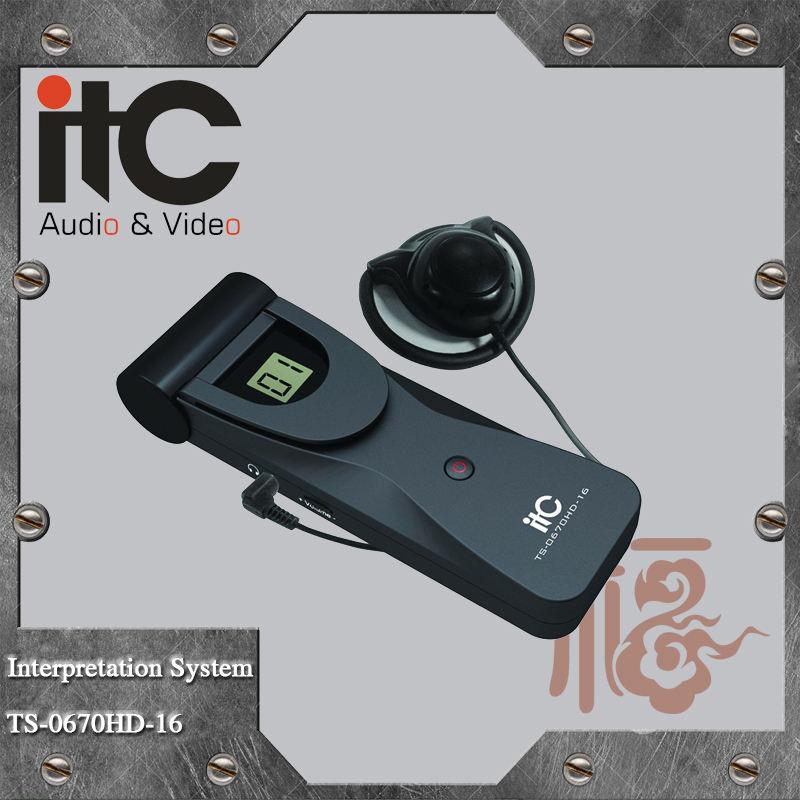 El cci TS-0670HD-16 sonido natural 16 <span class=keywords><strong>idioma</strong></span> full digti ir inalámbrico equipos <span class=keywords><strong>de</strong></span> traducción simultánea