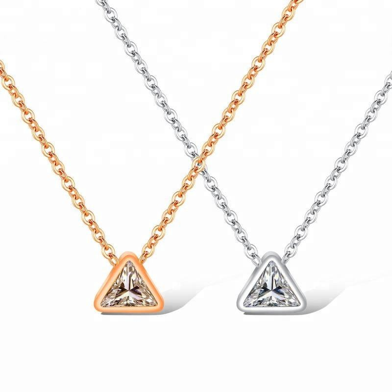 Свинец и никель свободный Мода Женщины стали ожерелье ювелирных изделий с бриллиантами Геометрия ожерелье