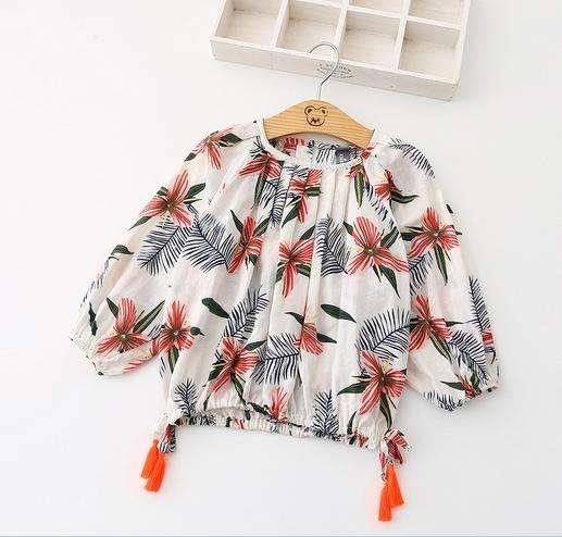 Модная детская рубашка с принтом в повседневном стиле