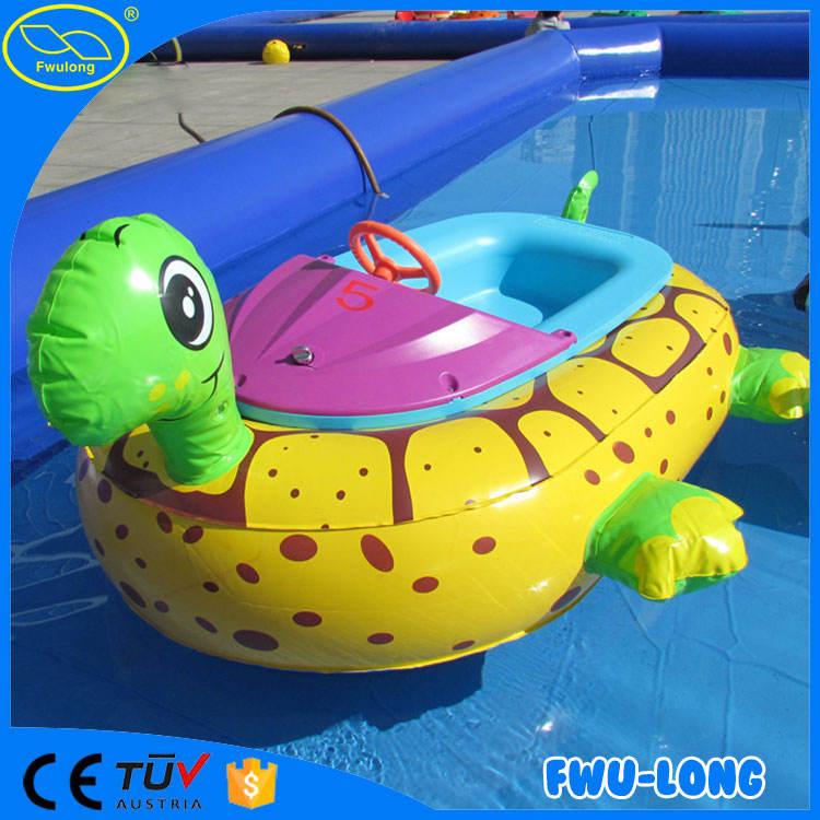 حار بيع رخيصة عملة تعمل متنزه للنفخ نموذج حيوان طفل قارب الوفير الكهربائية مع مشغل mp3