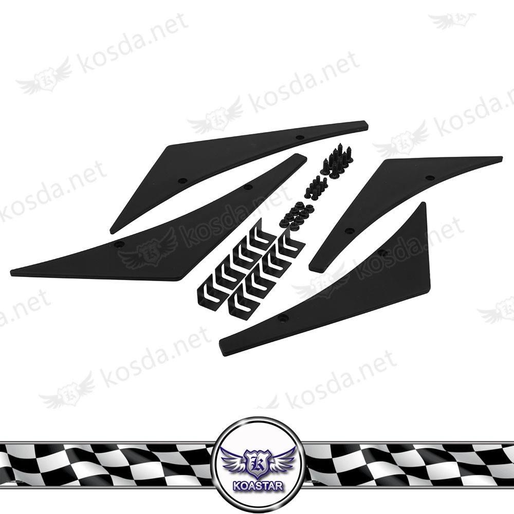 Spoiler delantero Canard LIP negro Splitter aletas body kit parachoques spoiler para el coche