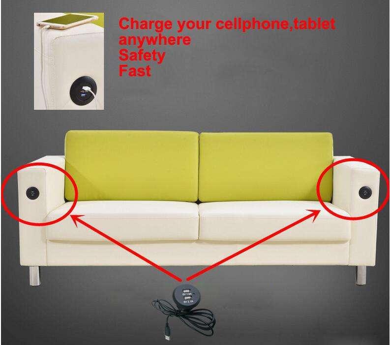Fábrica al por mayor nuevo estilo alta calidad 5 V 3.1A 2 puerto Dual Universal Usb doble carga para sofá y cine