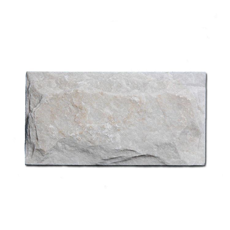 Белый кварцит камень с грибами для плитка для отделки стен